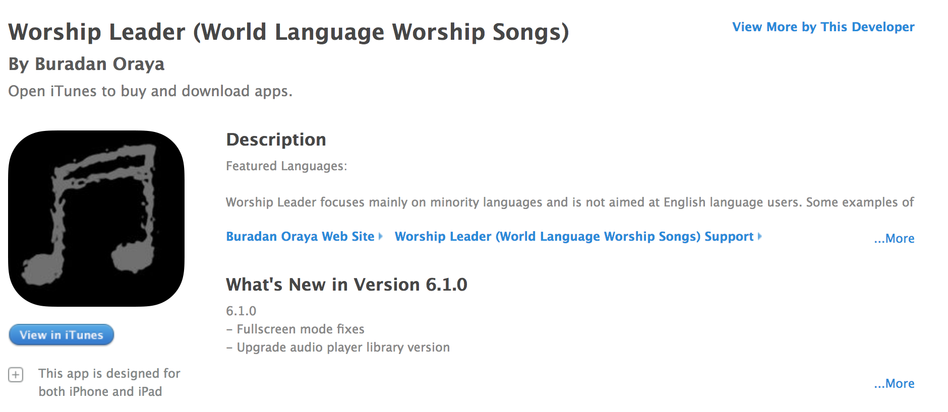 Global Worship Leader App